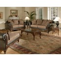 Beautiful Traditional Woodfront Sofa & Loveseat
