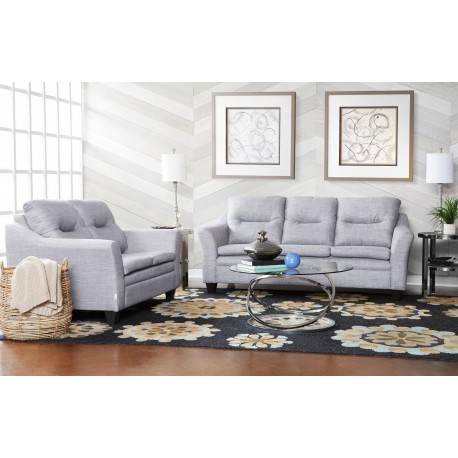 Transitional Pillow Top Sofa and Loveseat