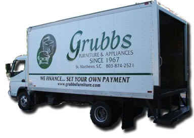 Grubbs Furniture and Appliances Delivery Truck