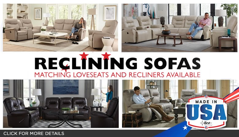 Made in America Reclining Sofas and Loveseats - on Sale.